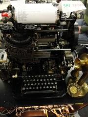 Un telex des années 1930 hacké par les talentueux pirates berlinois - Photo E.R.